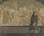 Old Woman 1997 39x47 Original Painting - Robert Nizamov