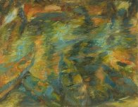 River 1999 27x36 Original Painting by Robert Nizamov - 1
