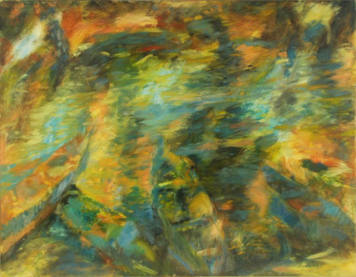River 1999 27x36 Original Painting by Robert Nizamov