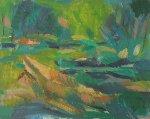 River 1999 24x30 Original Painting - Robert Nizamov