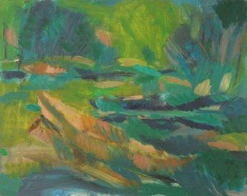 River 1999 24x30 Original Painting by Robert Nizamov