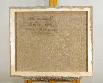 Fishes 1995 32x39 Original Painting - Robert Nizamov