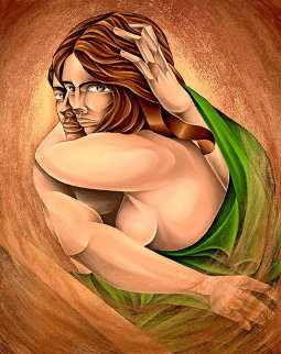 Embrace 2007 42x36 Original Painting by  Noel