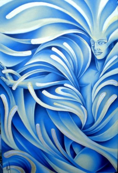 Water the Elements 2010 42x30 Original Painting by  Noel
