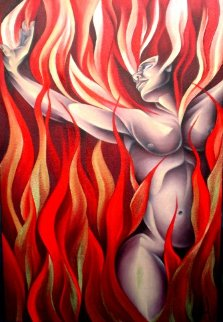 Fire the Elements 2010 42x30 Original Painting by  Noel