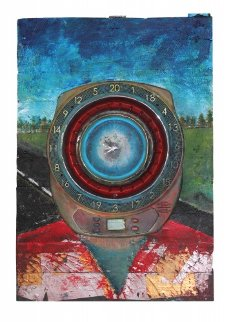 Roadkill 2012 36x25 Original Painting by Chris Noel