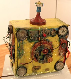 Tabletop Reflux Capacitor Mixed Media Sculpture 21 in  Sculpture - Chris Noel
