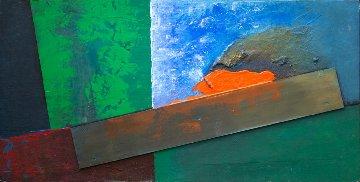 In the Eye of the Storm 2008 24x48 Huge Original Painting - Chris Noel