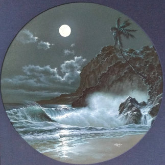 Hawaii Moonrise 40x40 Original Painting -  Noelito
