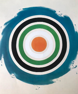 A Retrospective Circle 1977 Unique Limited Edition Print - Kenneth Noland