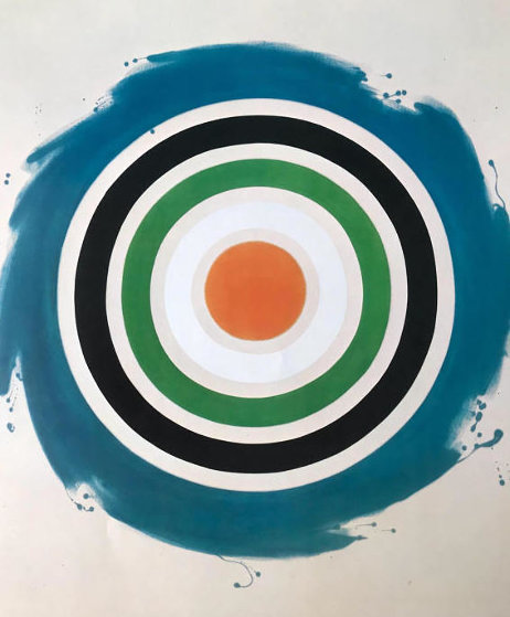 A Retrospective Circle 1977 Unique Limited Edition Print by Kenneth Noland