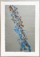 Untitled/diagonals Monoprint (Unique Work)  49x35 Huge Works on Paper (not prints) by Kenneth Noland - 5