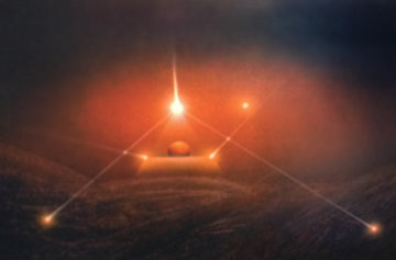 Red Moon 1987 30x40 Huge  Limited Edition Print - Andreas Nottebohm