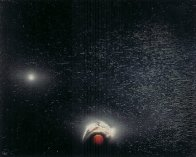 State of the Universe 6 Panel Mural 1986  6 panels 48x36 Mural - Super Huge Original Painting by Andreas Nottebohm - 2