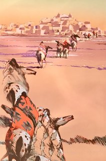Into Day Indian Horses 1995 Limited Edition Print by B.C. Nowlin