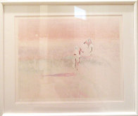 Lost Moon Monotype 1987 25x33 Works on Paper (not prints) by B.C. Nowlin - 2