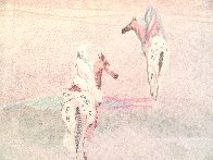 Lost Moon Monotype 1987 25x33 Works on Paper (not prints) by B.C. Nowlin - 0