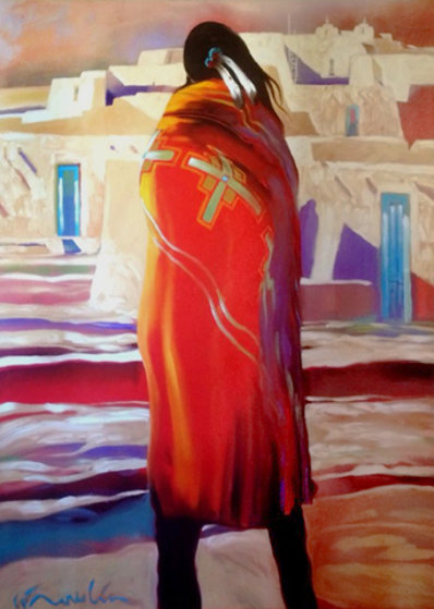 Will Stay 2000 58x48 Original Painting by B.C. Nowlin