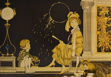 Gold Eclipse 1984 Limited Edition Print - Philippe Noyer