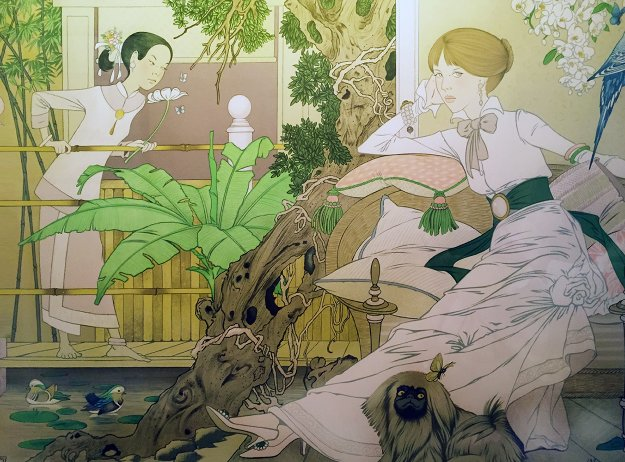 Chinese Garden 1980 Limited Edition Print by Philippe Noyer