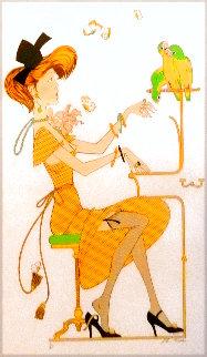 Femme Et Diseau 1983 Limited Edition Print - Philippe Noyer