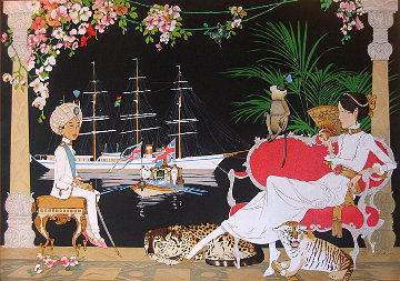Courtesy Call on Princess Victoria By the Young Maharadjah of Jamnagar 1980 Limited Edition Print - Philippe Noyer