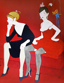 Ladies in Red 1969 Limited Edition Print - Philippe Noyer