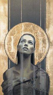 Draweth Nigh 1995 w Gold Leaf Limited Edition Print - Manuel Nunez