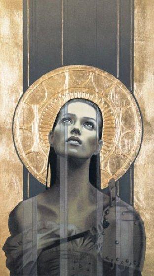 Draweth Nigh 1995 w Gold Leaf by Manuel Nunez