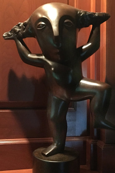 Rain Dance Bronze Sculpture 2014 20 in  Sculpture by Odile Kinart