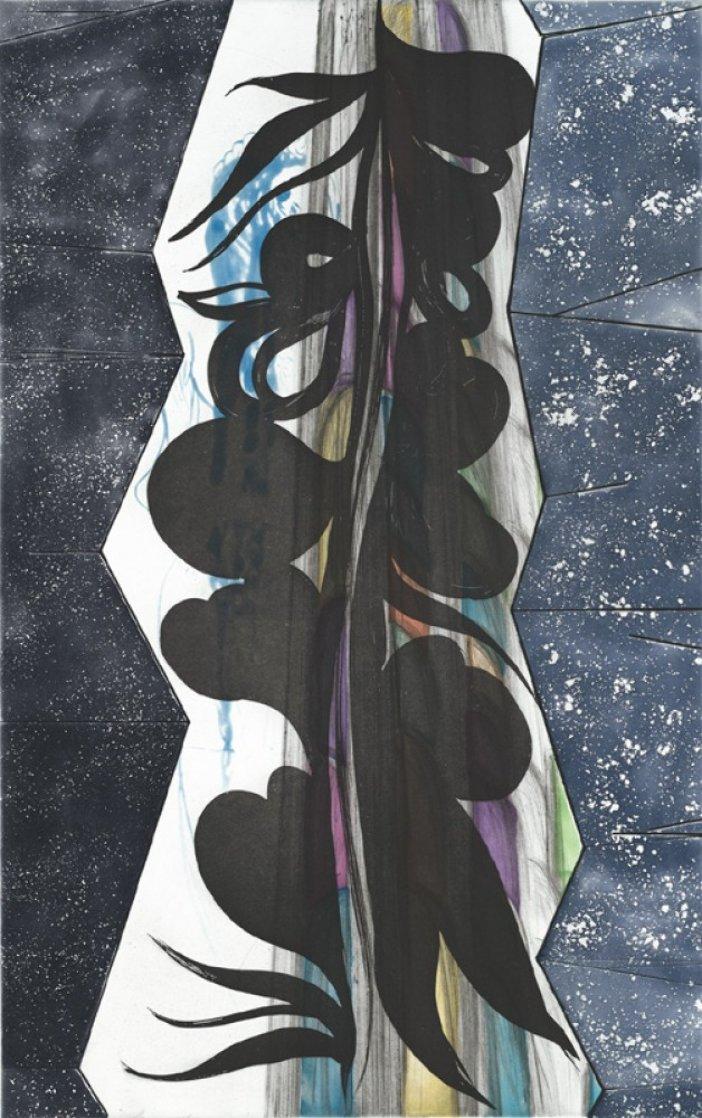 Rincon Falls Black Leaf 2008 Limited Edition Print by Chris Ofili