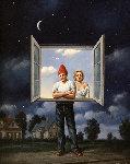 Illusions 1991 22x18 Original Painting - Rafal Olbinski