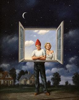 Illusions 1991 22x18 Original Painting by Rafal Olbinski