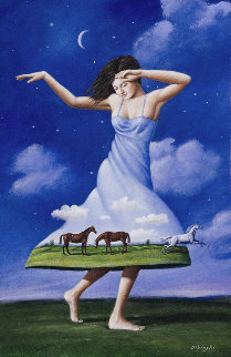 Permission For Silence  Original Painting - Rafal Olbinski