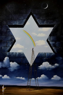 Proclamation of Value 2003 42x30 Original Painting - Rafal Olbinski