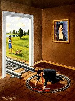 Catalog of Shifting Memories 2012 16x15 Original Painting by Rafal Olbinski