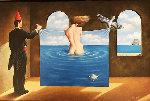 Declaration of Righteousness 2010 16x23 Original Painting - Rafal Olbinski