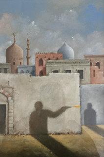 Damascus 1989 27x21 Original Painting - Rafal Olbinski