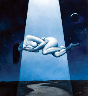 Comfortable Inconsistencies 2015 33x30 Original Painting - Rafal Olbinski