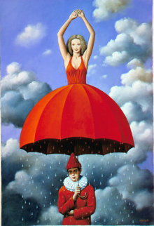 Origin of Metaphysics 2008 20x15 Original Painting - Rafal Olbinski