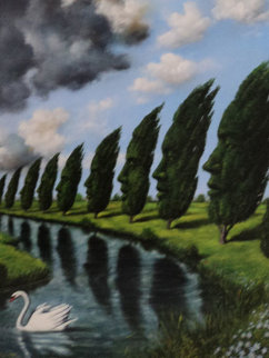 Untitled Painting Original Painting - Rafal Olbinski