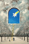 2002 Magical Transparency of Time PP Midsummer Marriage PP  Limited Edition Print - Rafal Olbinski
