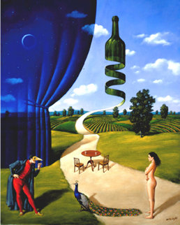 Appetite For Reason - Study 2002 16x13 Original Painting - Rafal Olbinski