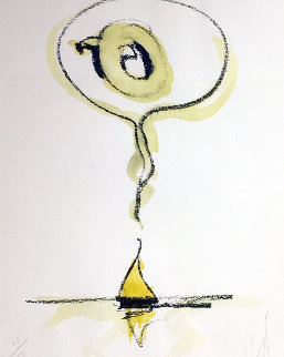 Sailboat Thinking of Q 1976 (Early) Limited Edition Print - Claes Thure Oldenburg