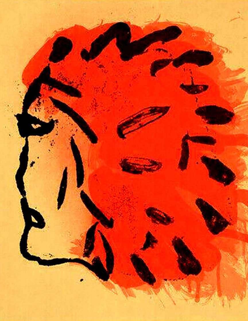Indian Head From Peace Portfolio 1970 Limited Edition Print by Claes Thure Oldenburg