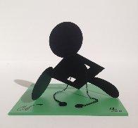 Geometric Mouse Scale E Desktop Metal Sculpture 2013 Sculpture by Claes Thure Oldenburg - 1