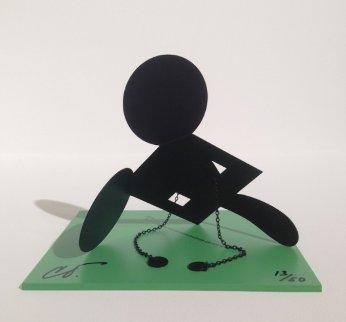 Geometric Mouse Scale E Desktop Metal Sculpture 2013 Sculpture by Claes Thure Oldenburg