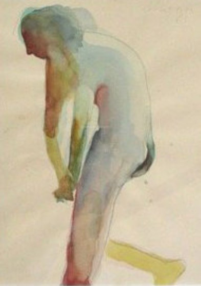 Untitled 1961 18x15 Watercolor by Nathan Oliveira