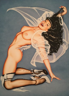 Heavenly Blue 1999 Signed by Bettie Limited Edition Print by Olivia De Berardinis