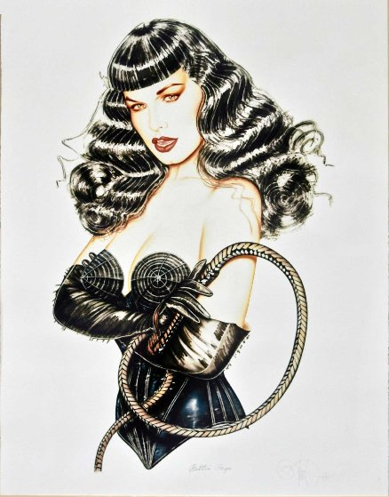 Stinger  Bettie Page  2002 Limited Edition Print by Olivia De Berardinis